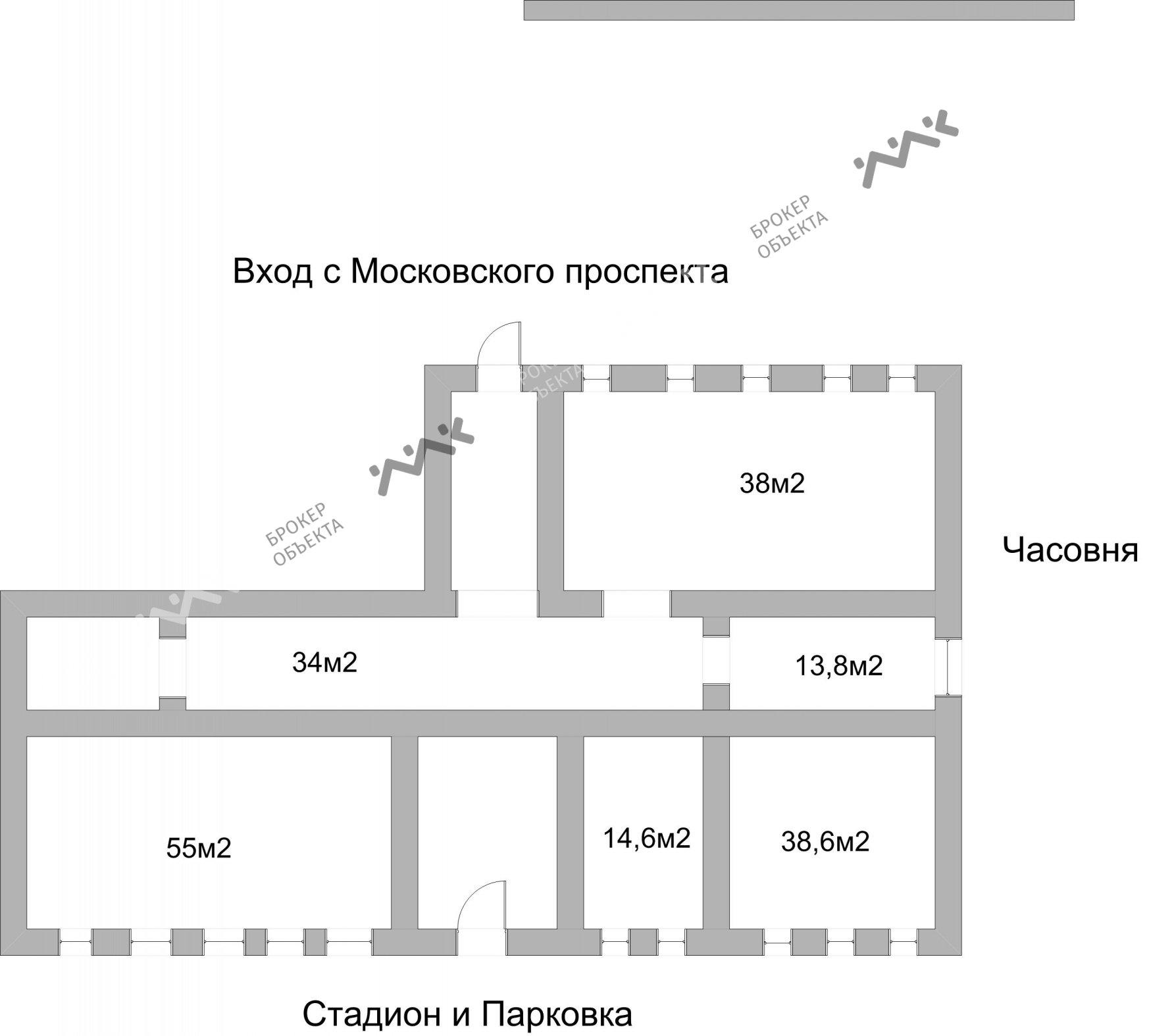 Планировка Московский пр., д.106. Лот № 2060300