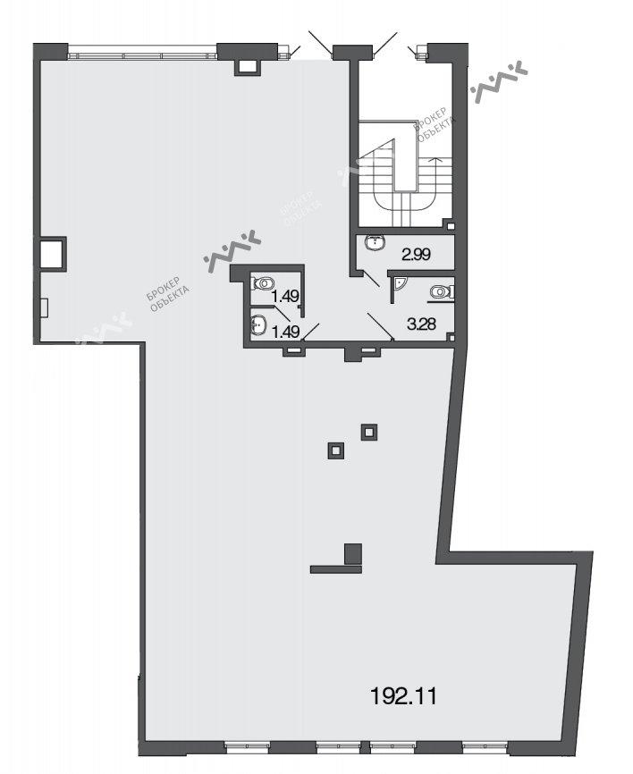 Планировка 2-я Советская ул., д.4, лит.А. Лот № 1078190
