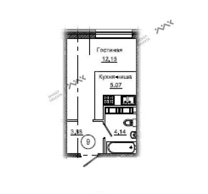 Планировка Средний В.О. пр., д.87, лит.М. Лот № f6743065