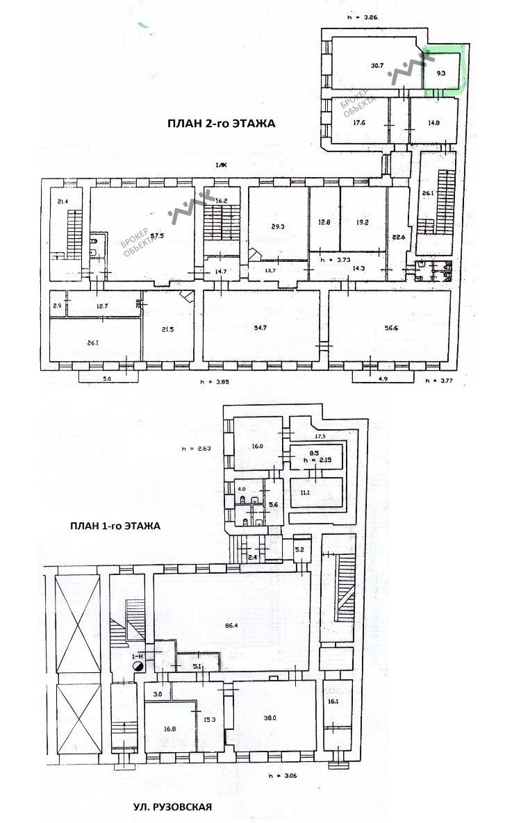 Планировка Рузовская ул., д.21. Лот № 3616673