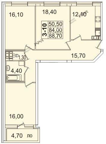 Планировка Пионерская пл., д.50. Лот № f3267765
