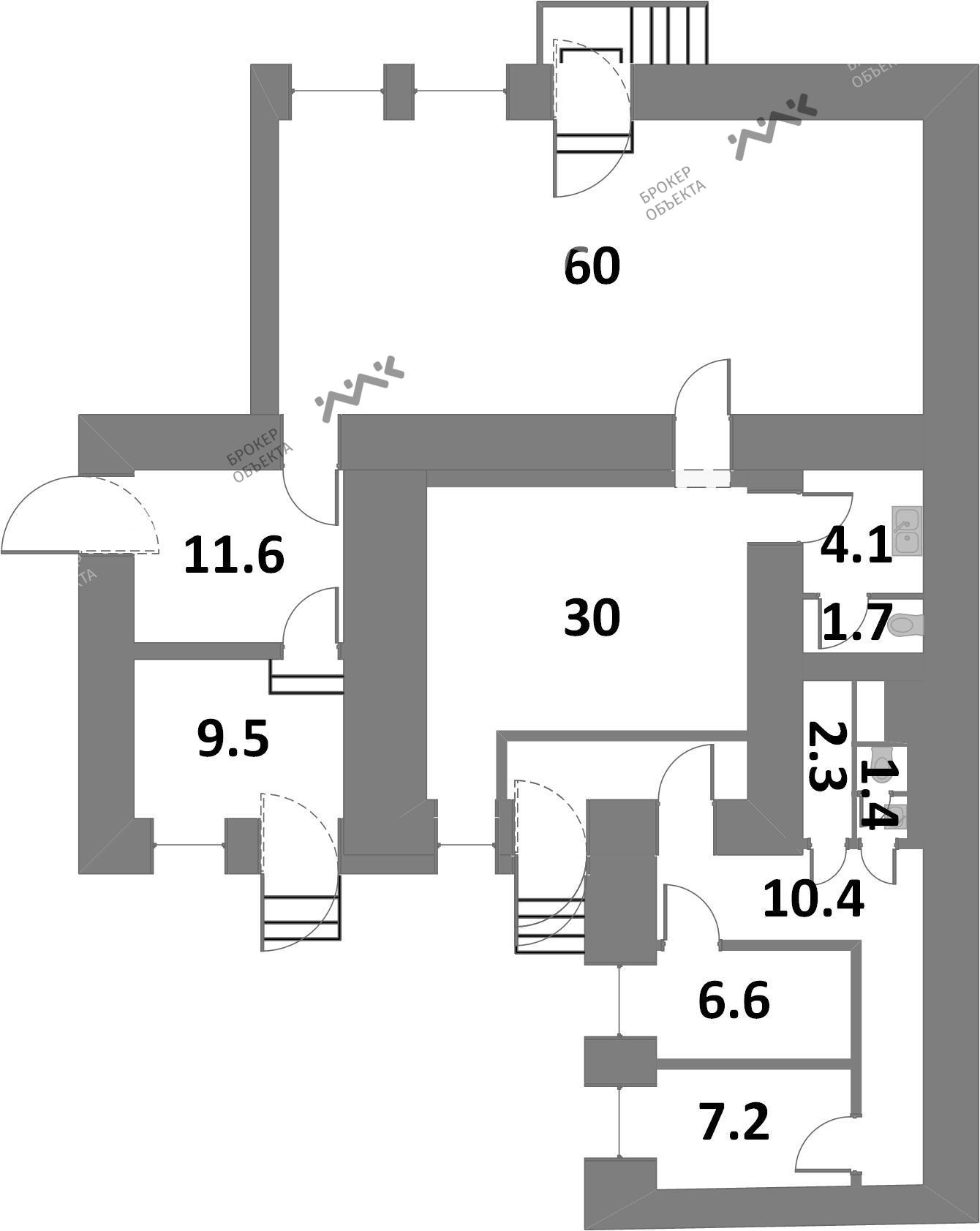 Планировка Маяковского ул., д.10. Лот № 865467