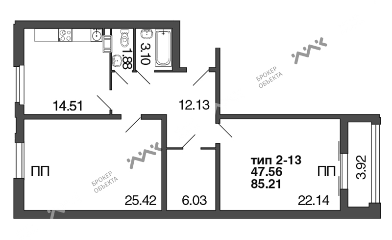 Планировка Полтавская, д.7. Лот № f3272839