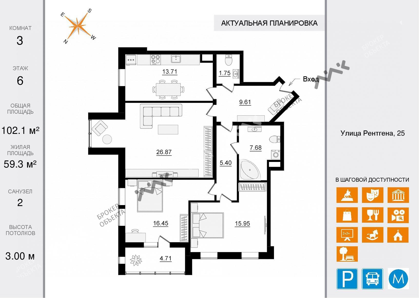 Планировка Чапаева ул., д.28. Лот № 34380244