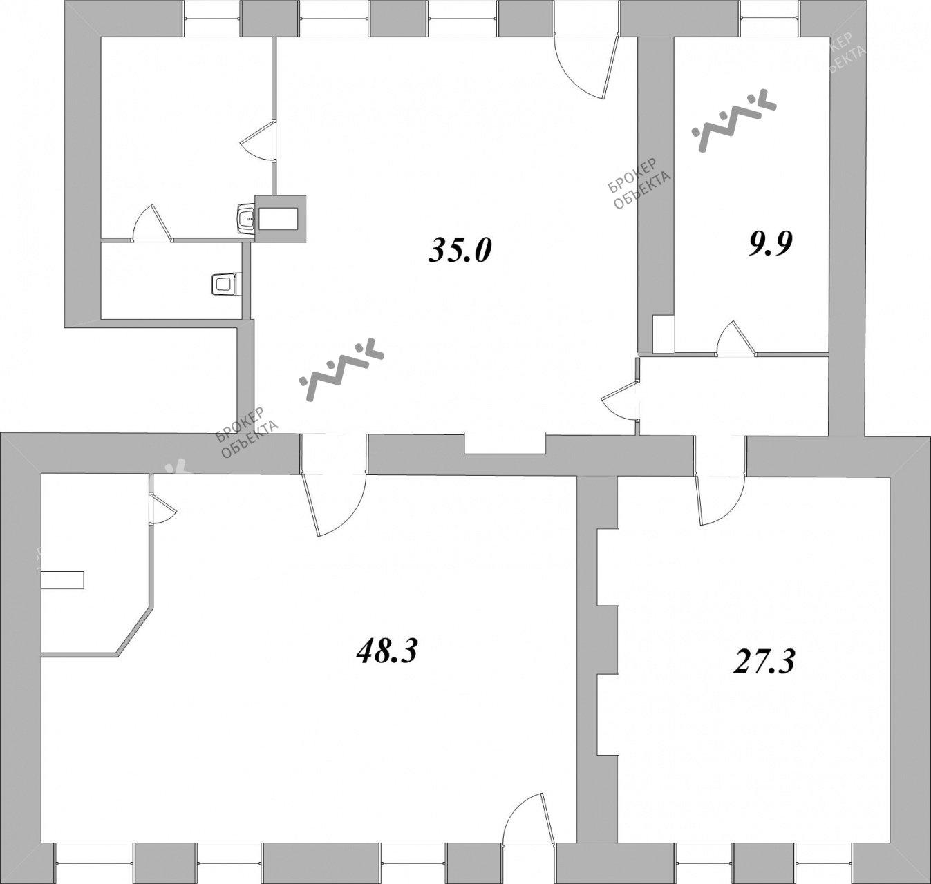 Планировка Вознесенский проспект, д.23. Лот № 1666071