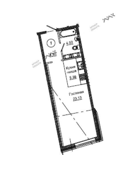Планировка Средний В.О. проспект, д.87, лит.М. Лот № f6934049