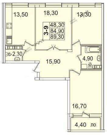 Планировка Пионерская пл., д.50. Лот № f3267726
