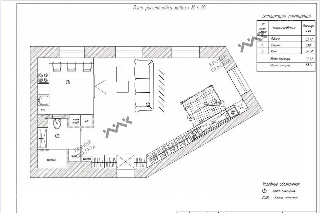 Планировка Добролюбова проспект, д.2. Лот № 23858842