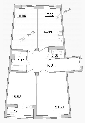 Планировка Пионерская ул., д.50. Лот № 21094151