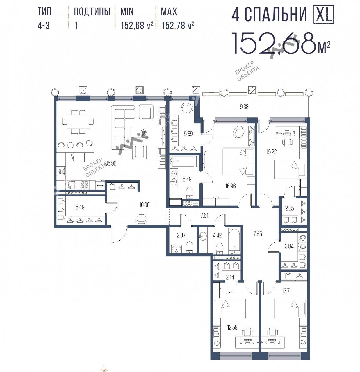 Планировка Московский проспект, д.65. Лот № f18215480