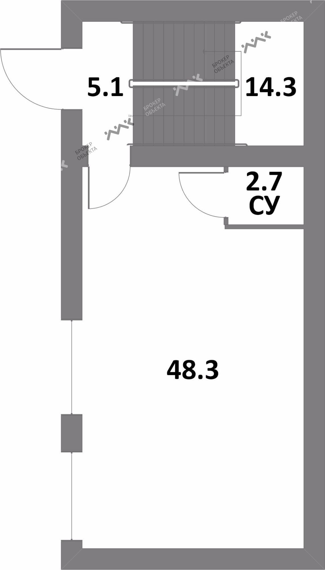Планировка Комендантский проспект, д.51, к.1. Лот № 865474