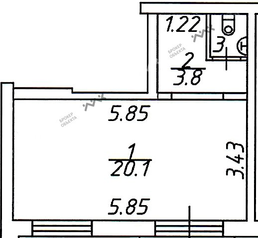 Планировка Коллонтай ул., д.23. Лот № 1567830