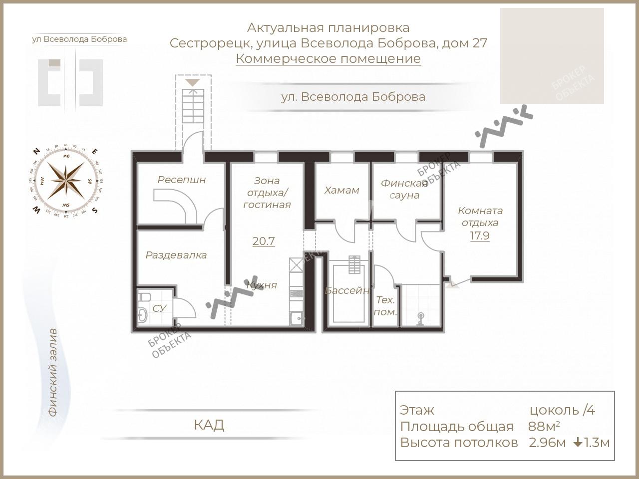 Планировка г. Сестрорецк, Всеволода Боброва ул., д.27. Лот № 1830622