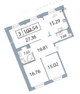 Планировка Морской пр., д.25. Лот № f3266365
