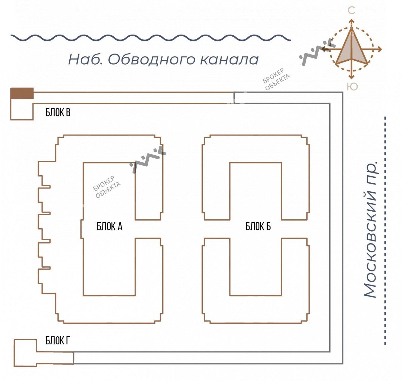 Планировка Московский проспект, д.65. Лот № 27733810