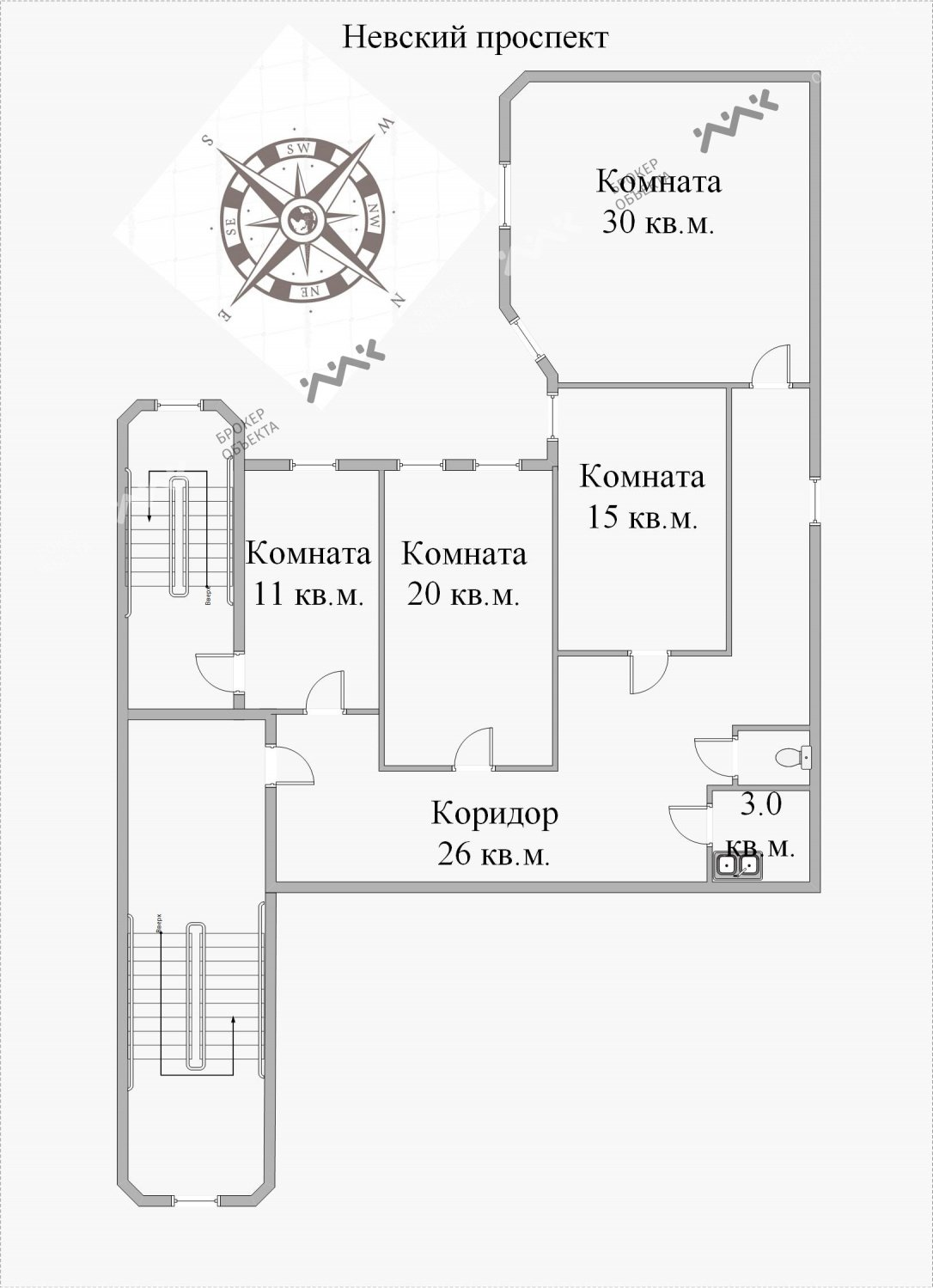Планировка Невский проспект, д.65. Лот № 2552211