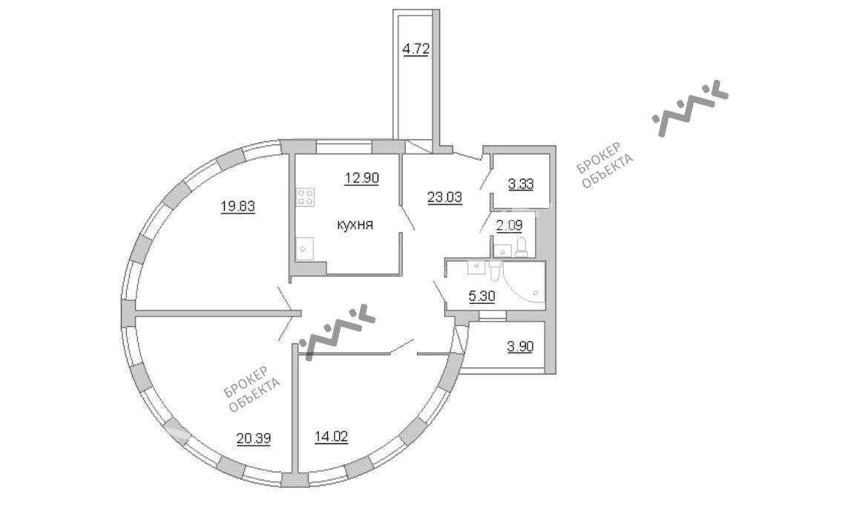 Планировка Пионерская ул., д.50, лит.А. Лот № 14322974