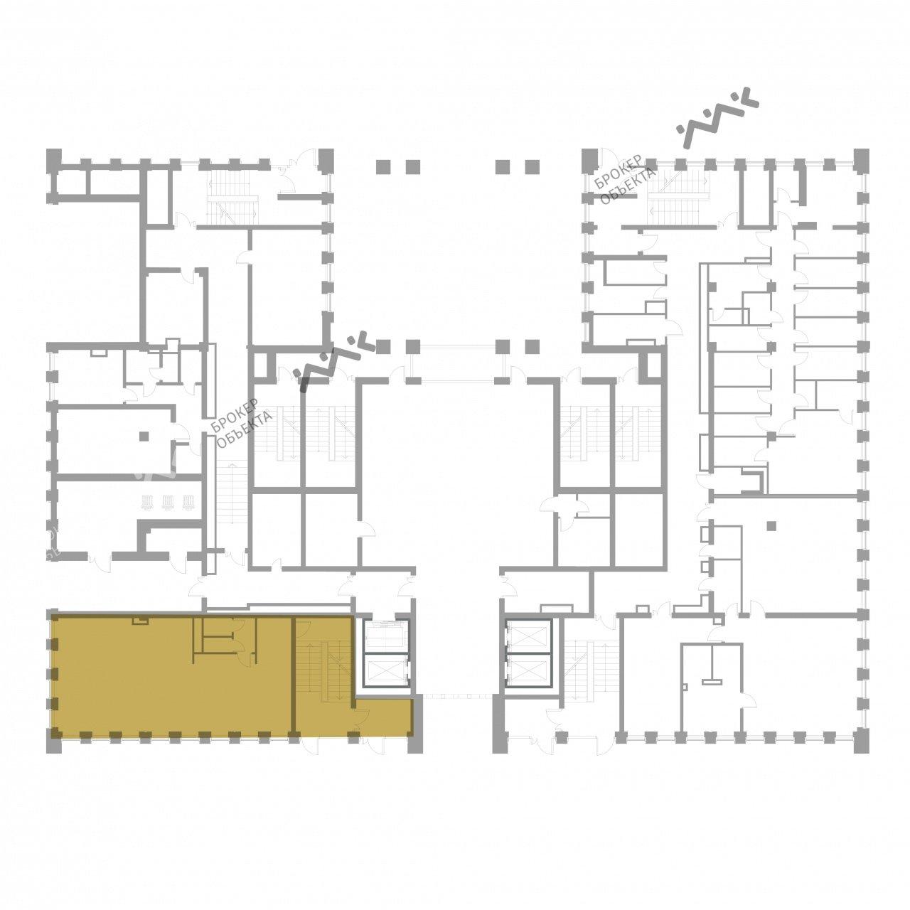 Планировка Институтский проспект, д.16, к.1, лит.А. Лот № 13671054
