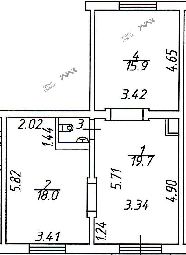 Планировка Коллонтай ул., д.23. Лот № 1567831