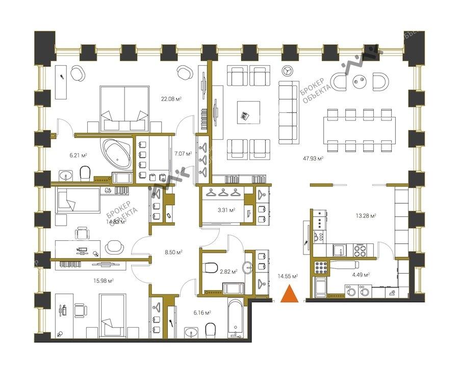 Планировка Институтский проспект, д.16. Лот № f18313207
