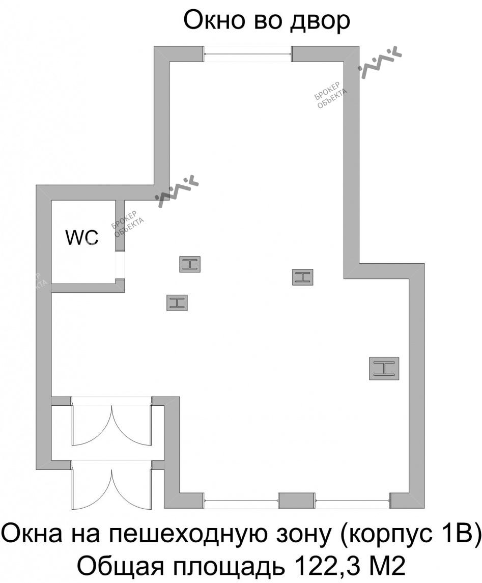 Планировка Полтавский пр-д., д.2. Лот № 848356