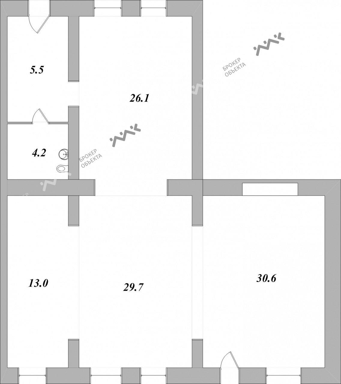 Планировка Тележный пер., д.3. Лот № 1441294