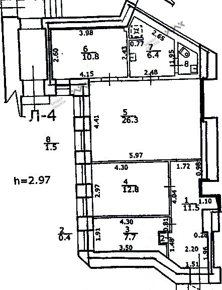 Планировка Ленина ул., д.50. Лот № 2745701