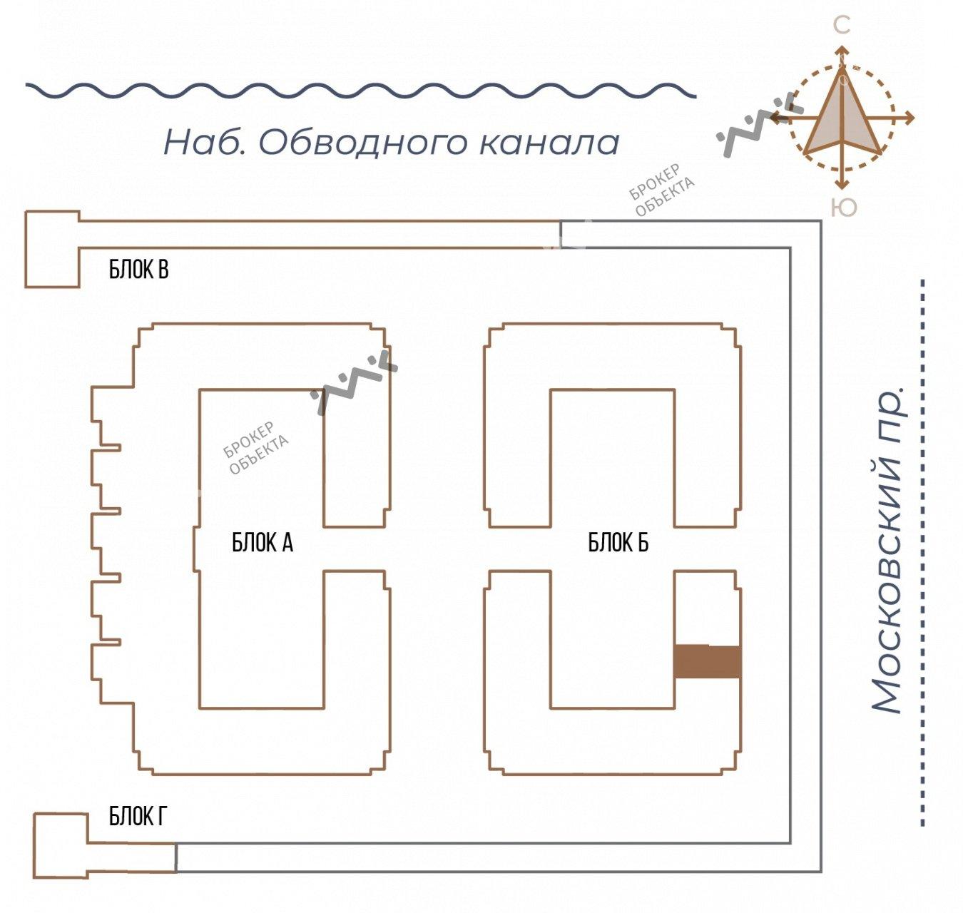 Планировка Московский проспект, д.65. Лот № 27730894