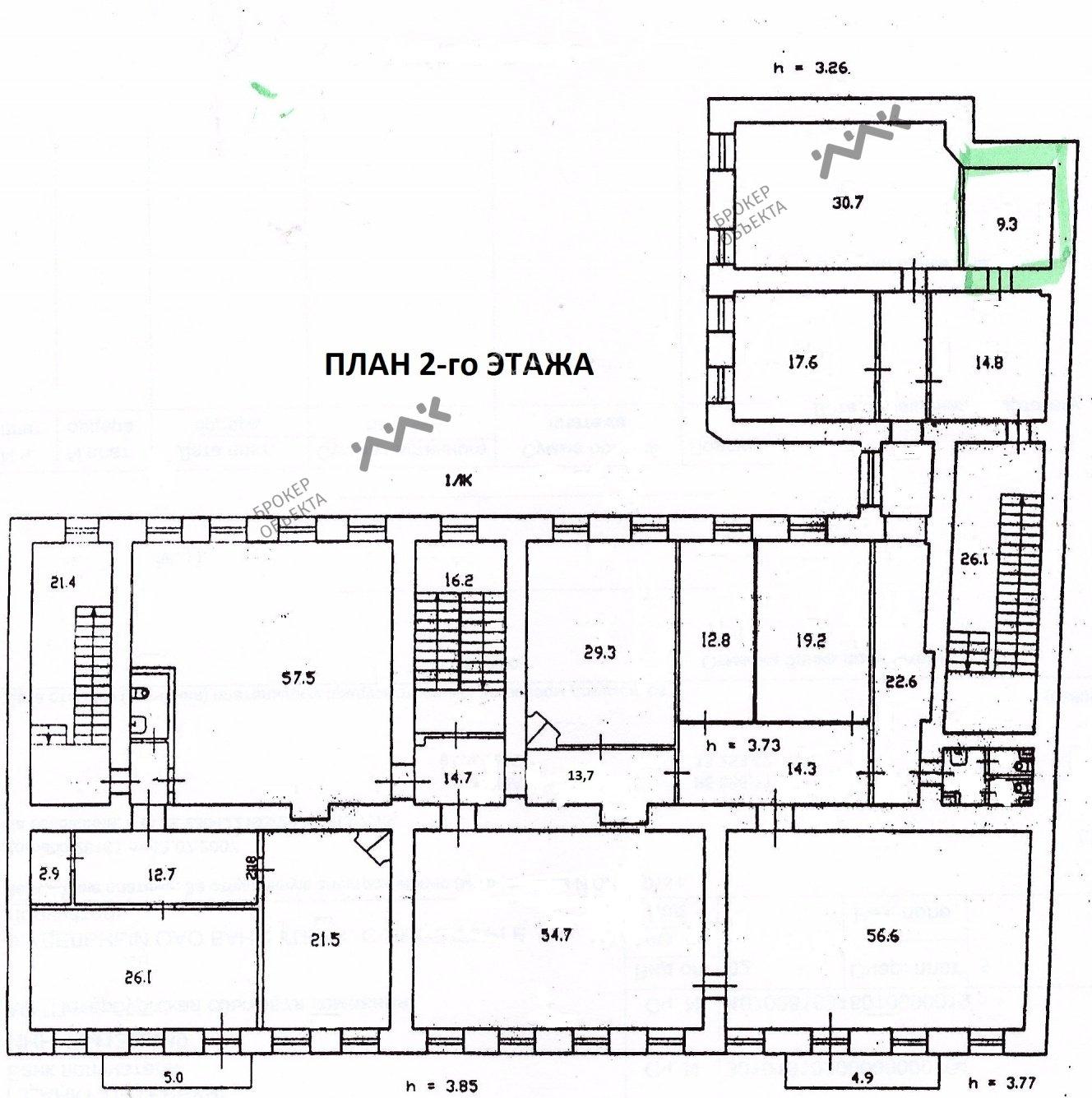 Планировка Рузовская ул., д.21. Лот № 3616222