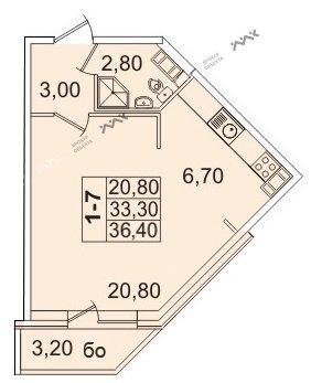 Планировка Пионерская пл., д.50. Лот № f3267793