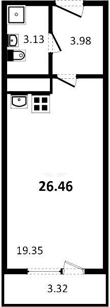 Планировка Московский проспект, д.97. Лот № 26562467