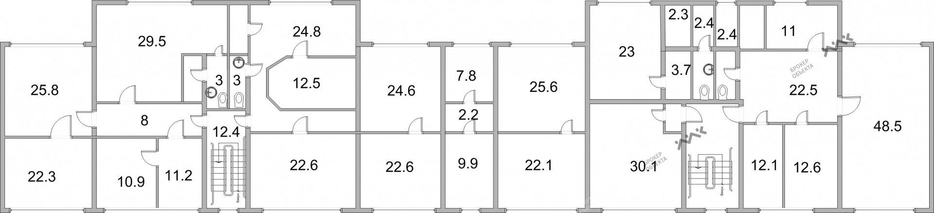 Планировка Ленинский проспект, д.168, к.4. Лот № 1581753