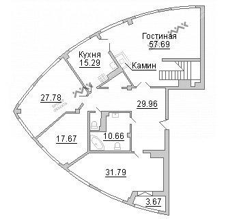 Планировка Пионерская ул., д.50. Лот № 19700225