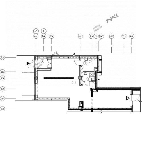 Планировка Лагоды ул., к.7, лит.А. Лот № 11746083
