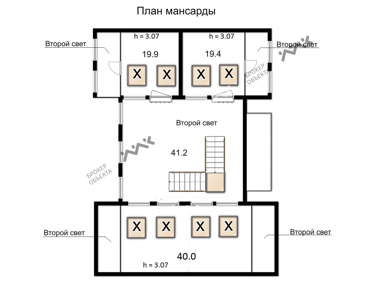 Планировка Лахтинский проспект, д.119, лит.А. Лот № 1550415