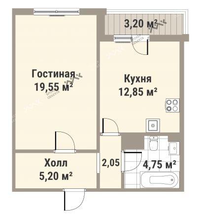 Планировка Медиков пр., д.10. Лот № f3262483