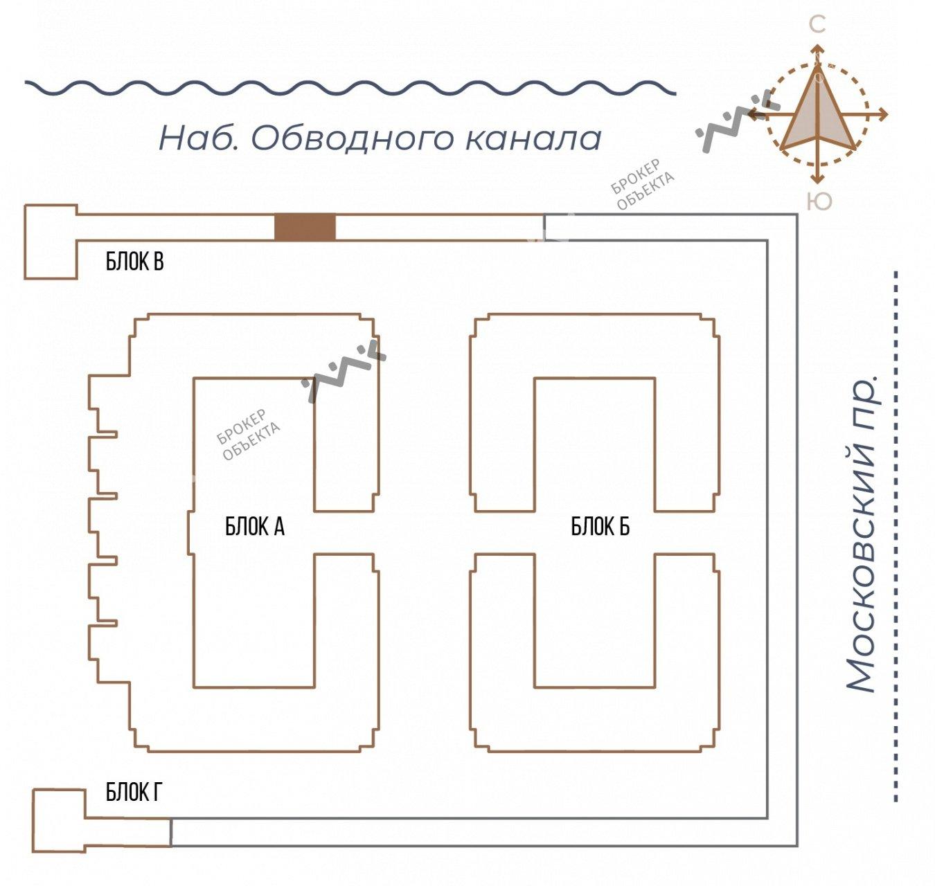 Планировка Московский проспект, д.65. Лот № 27732264