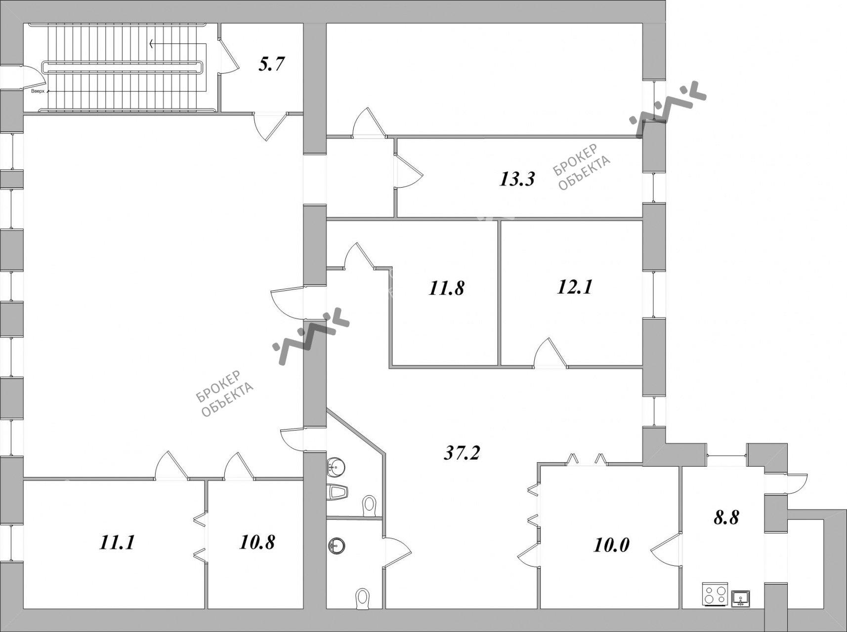 Планировка 6-я В.О. линия, д.43. Лот № 1841614