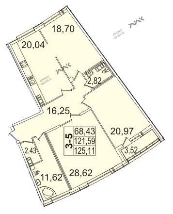 Планировка Пионерская ул., д.50. Лот № 11062303