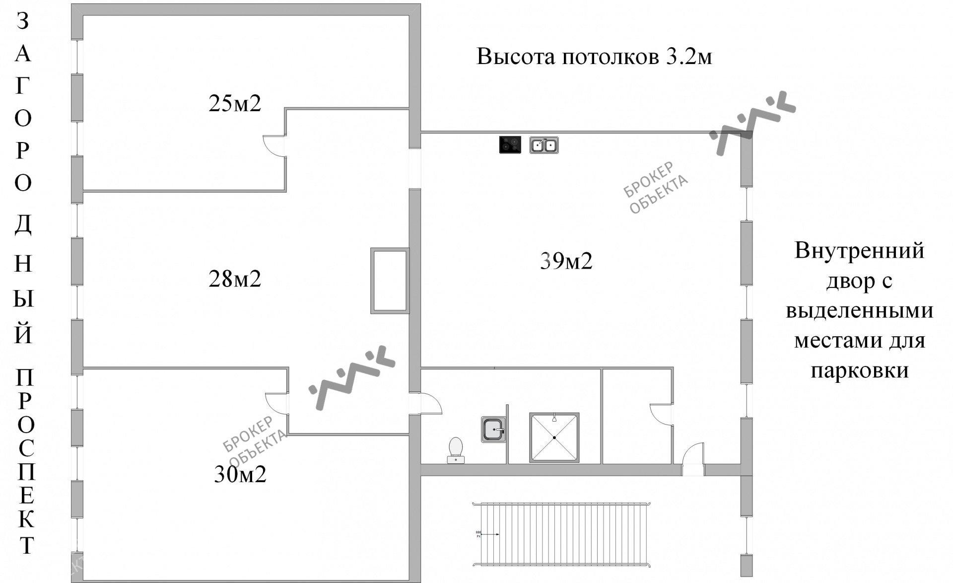 Планировка Загородный пр., д.36. Лот № 7529404
