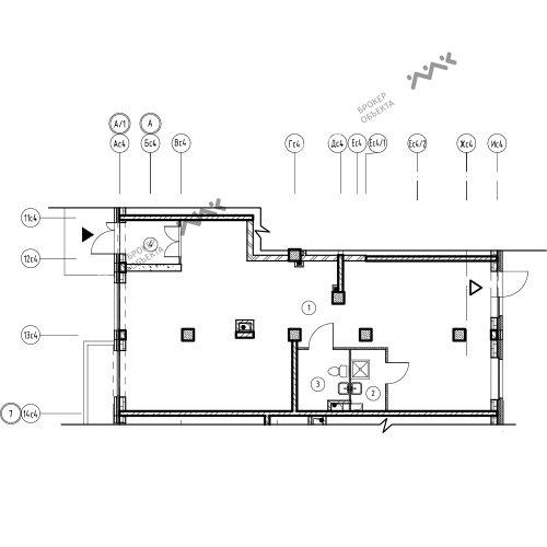 Планировка Лагоды ул., к.7, лит.А. Лот № 11771399