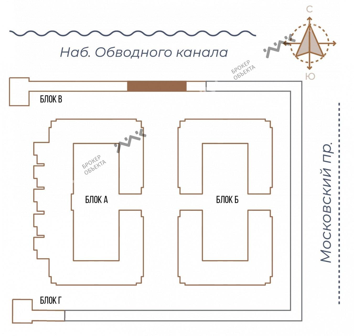 Планировка Московский проспект, д.65. Лот № 27733286