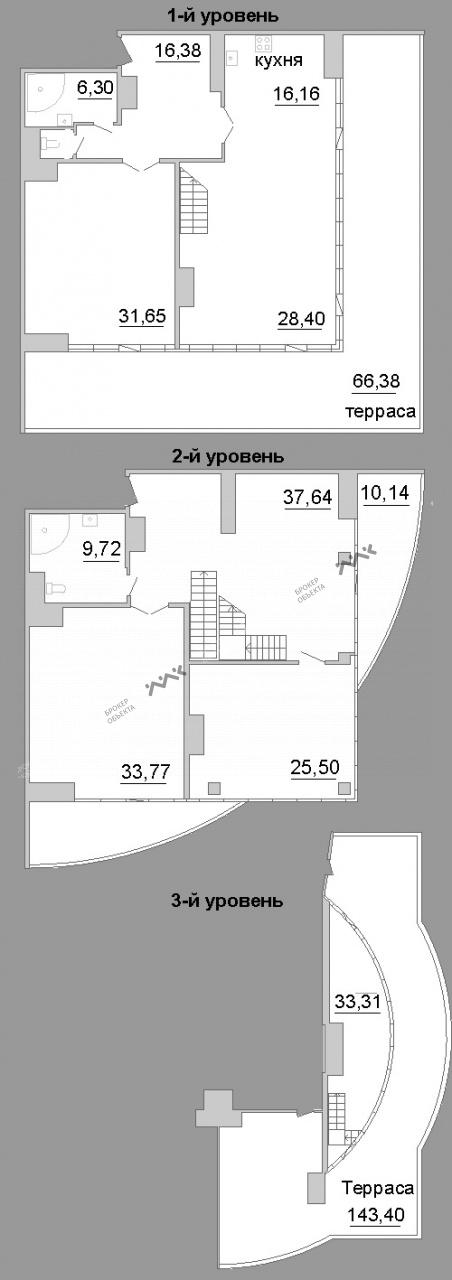 Планировка Киевская ул., д.3. Лот № 21117139