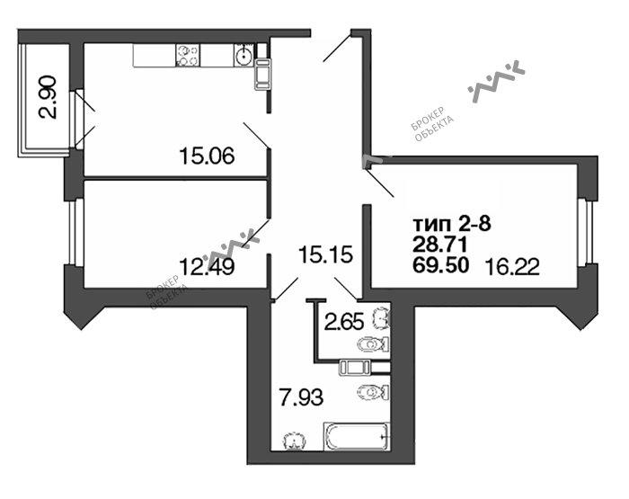 Планировка Полтавская, д.7. Лот № f3272889