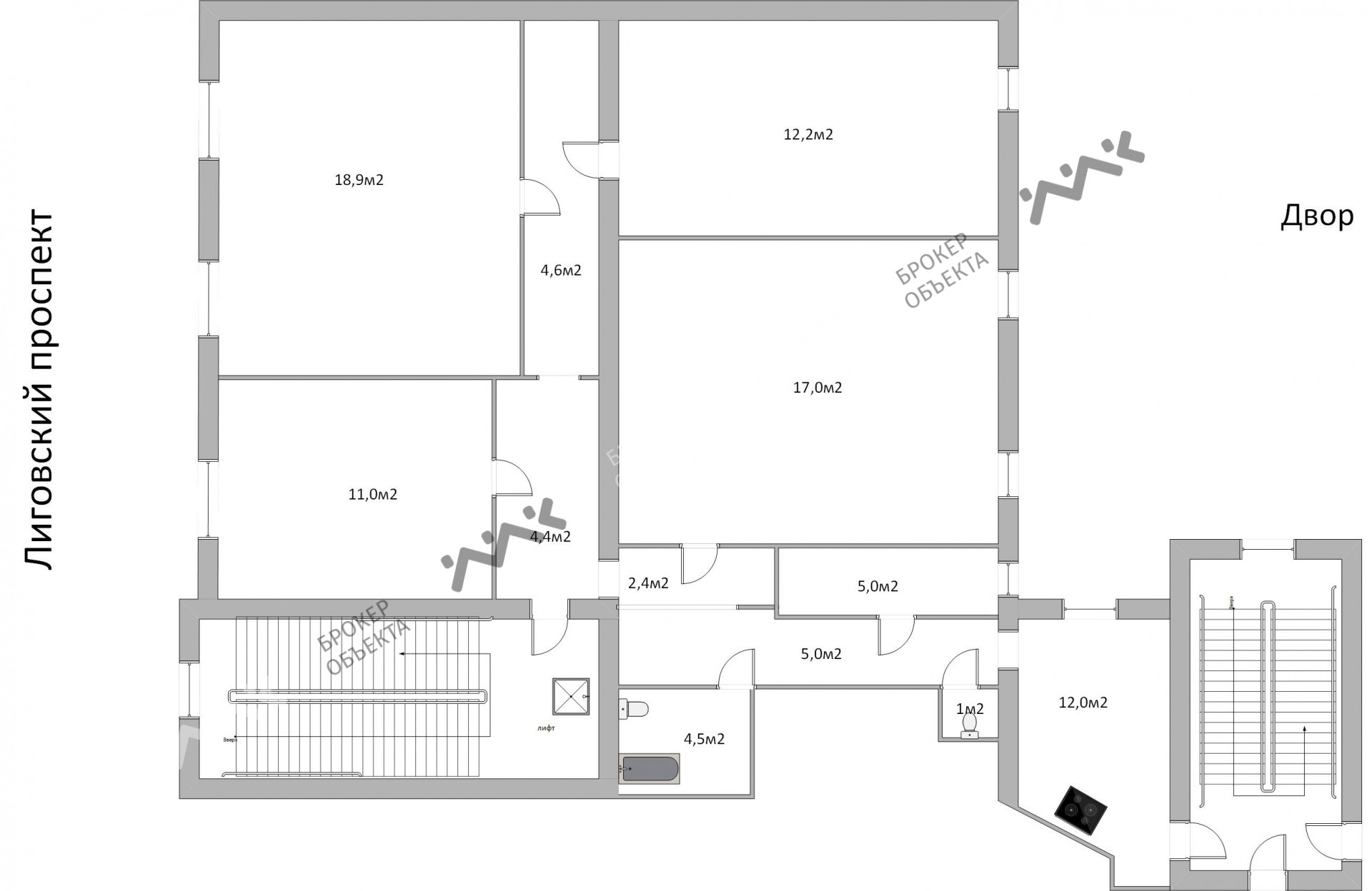 Планировка Лиговский проспект, д.125. Лот № 4225337