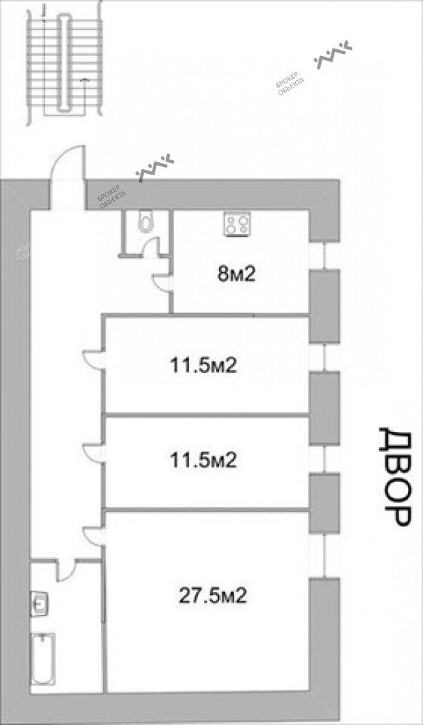 Планировка Социалистическая ул., д.16. Лот № 889151