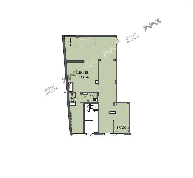 Планировка 2-я Советская ул., д.4, лит.А. Лот № 1078203