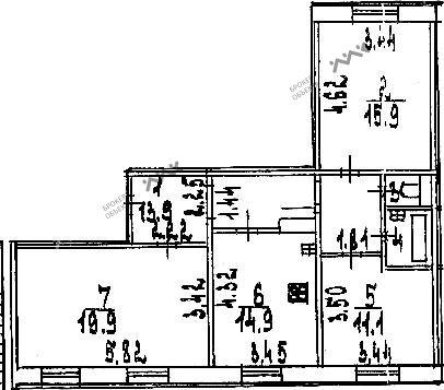 Планировка Испытателей пр., д.28. Лот № 1553192