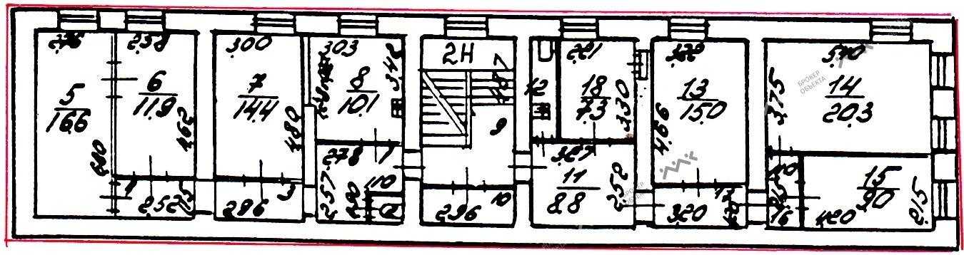 Планировка 4-я В.О. линия, д.39, лит.Б. Лот № 1565667