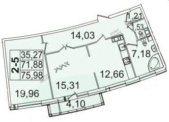 Планировка Пионерская ул., д.50. Лот № f3267657